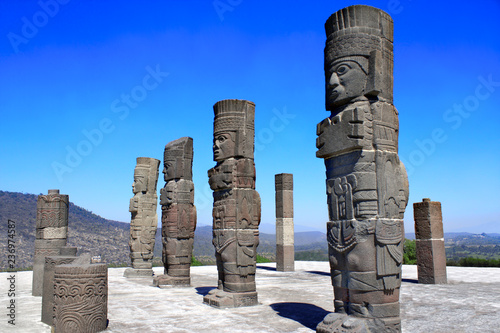 Deurstickers Centraal-Amerika Landen Toltec Atlantes, Tula de Allende, Hidalgo state, Mexico