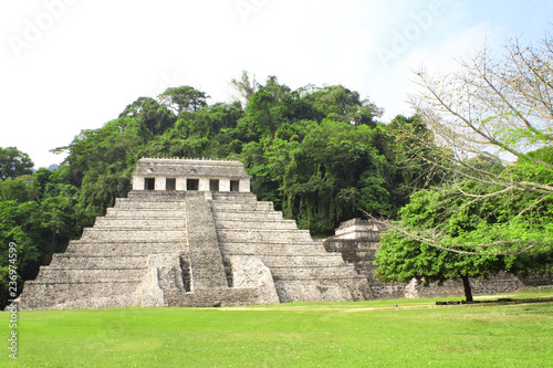 Deurstickers Centraal-Amerika Landen Temple of the Inscriptions, Palenque, Chiapas, Mexico