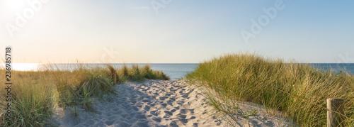 Panorama Sonnenuntergang an der Ostsee