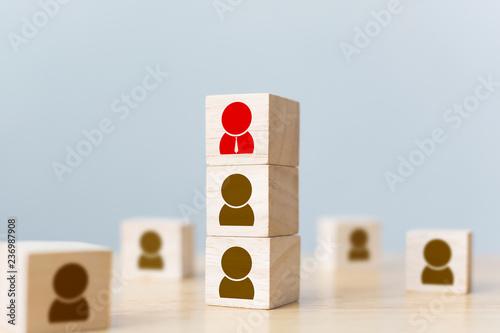 Fotografie, Obraz  Human resources management and recruitment business build team concept