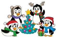 Christmas Penguins Thematic Im...