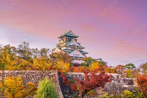 Naklejka premium Zamek Osaka w Osace w Japonii