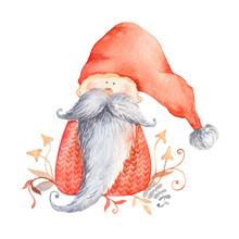 Christmas Gnome With Long Bear...