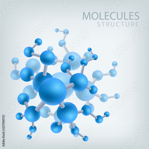 Photo Molecule structure structure, vector