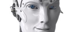 Friendly Robot Closrup Digital 3d Render