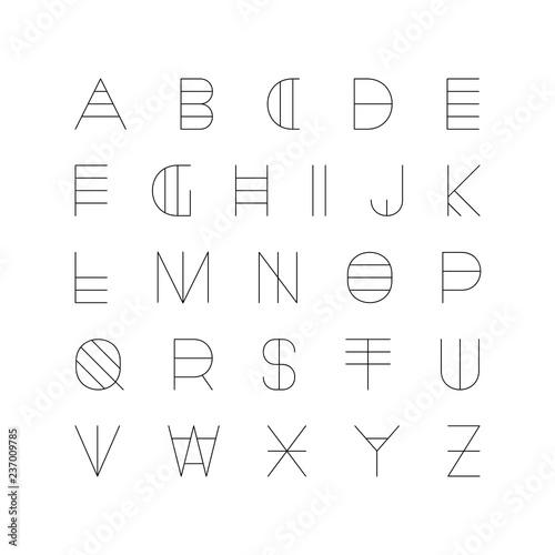 Creative futuristic font  Modern english alphabet, unusual