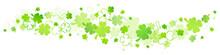 Green Cloverleaf Graphic Border