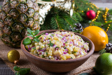 Pineapple Salsa With Fruit In A Bowl