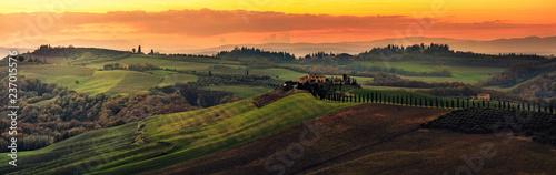 Foto op Plexiglas Toscane Podere Baccoleno Val d'Orcia Toscana
