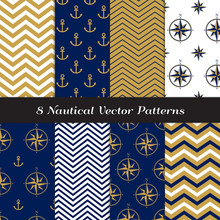 Nautical Vector Patterns With ...