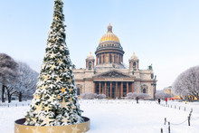 St. Isaac Cathedral And Christ...