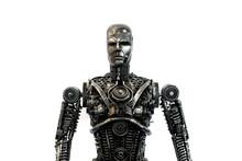 Scrap Metal Cyborg Sculpture