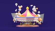 Carousel Among Colorful Balls ...