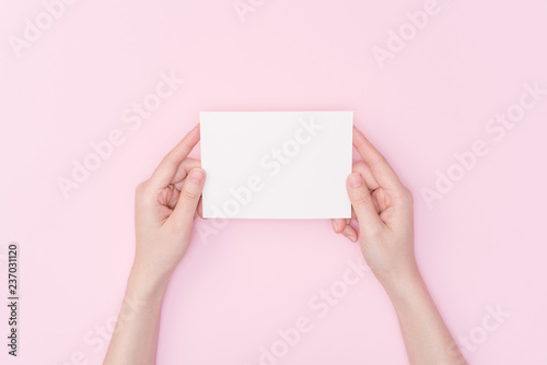 Fotografering hand holding blank card
