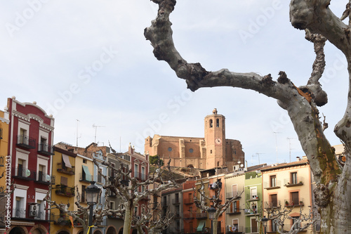 square of Balaguer, Lleida province, Catalonia, Spain