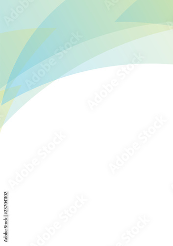 pastel blue yellow petal abstract background, curve layer, multicolor transparent backdrop, vector illustration