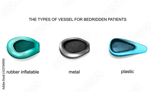 types of vessel for bedridden patients Canvas Print