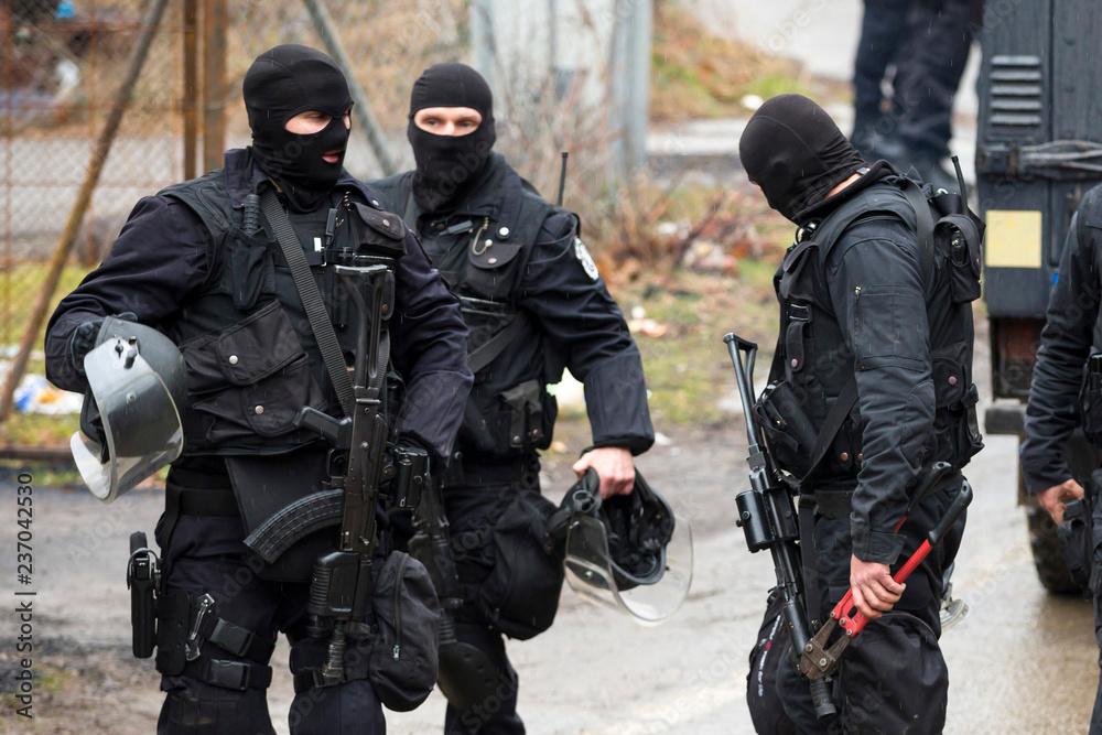 Fototapeta Special law enforcement unit