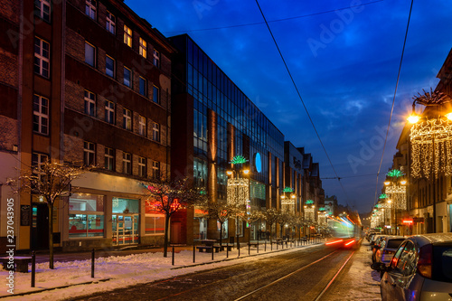Obraz Nighty Zabrze. Poland. Architecture. Cityscape - fototapety do salonu