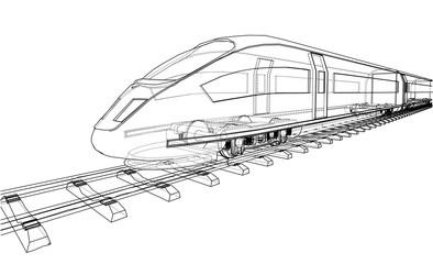 Modern speed train concept