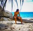 Beach boy. Tanned. Tropical.