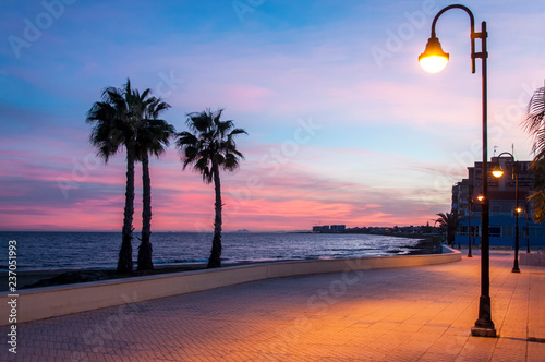 Promenade of Torrevieja. Costa Blanca. Spain