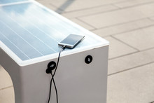 Solar Panel On City Bench Outd...