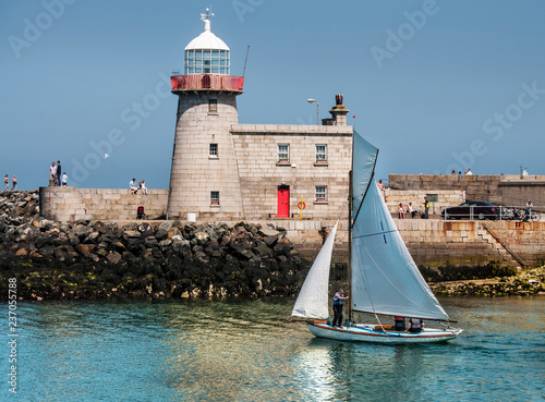 Photo  The old Lighthouse in Howth . Ireland