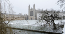 Snowy King's College, Cambridge