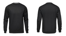 Blank Template Mens Black Pull...