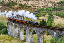 Glenfinnan Viaduct, Scotland. ...