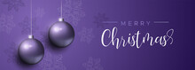 Purple Christmas Luxury Bauble Ornament Banner