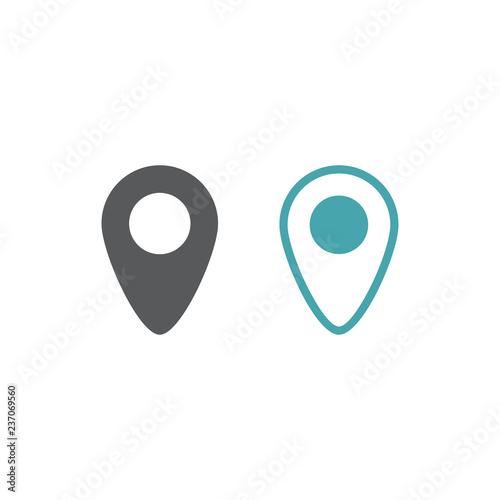 Valokuva  Address badge on the map.