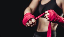 Girl Athlete Boxing MMA