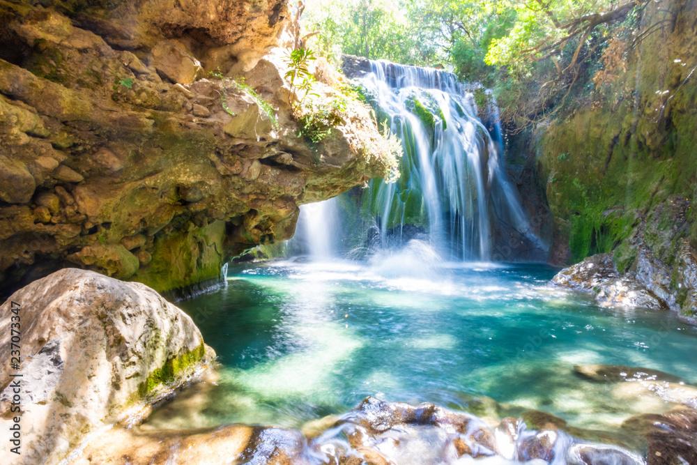Fototapety, obrazy: Waterfall of Akchour, Talassemtane National Park, Morocco
