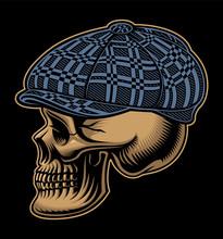 Vector Illustration Of A Skull...