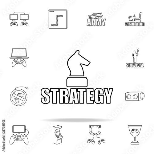 Fototapeta logo strategy games icon. gaming icons universal set for web and mobile obraz na płótnie