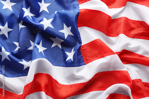 Canvas Prints Textures American flag as background, top view. National symbol of USA