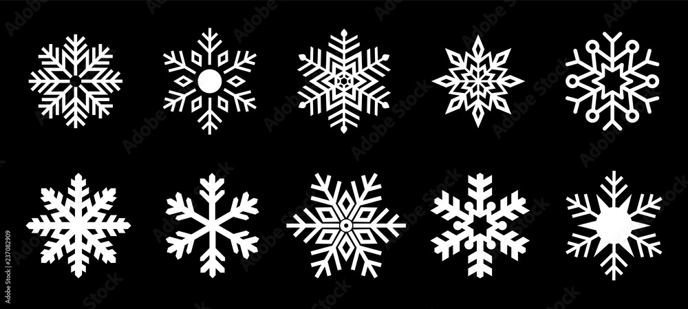 Fototapeta Isolated Snowflake Collection