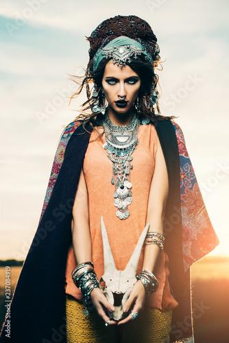 Poster Gypsy boho fashionable style