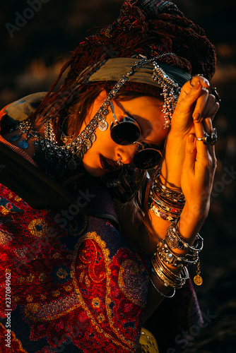 Poster Gypsy magnificent fashion woman