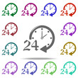 24 hours service icon. Elements of Shop in multi color style icons. Simple icon for websites, web design, mobile app, info graphics