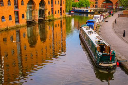 Fotografia Castlefield - an inner city conservation area in Manchester, UK