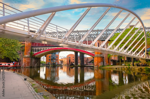 Fotografering Castlefield - an inner city conservation area in Manchester, UK