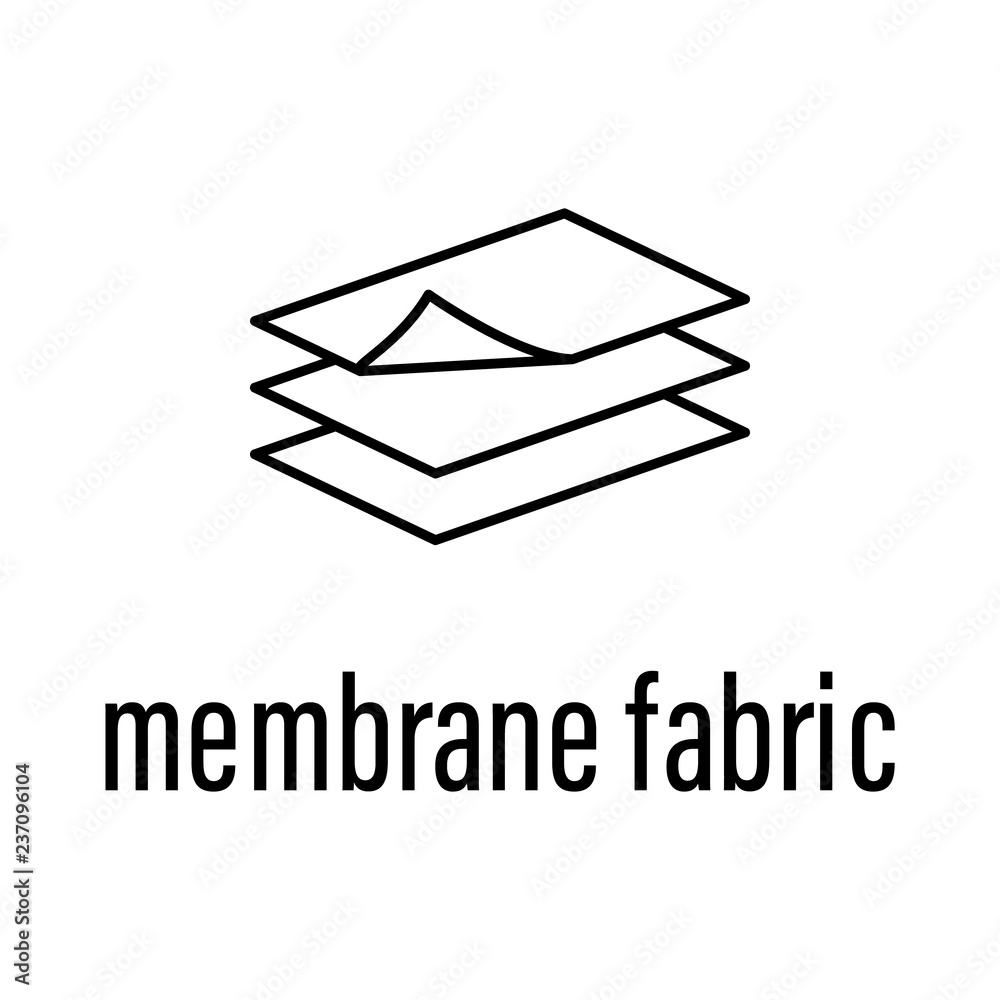 Fototapety, obrazy: membrane fabric icon. Element of raw material with description icon for mobile concept and web apps. Outline membrane fabric icon can be used for web and mobile
