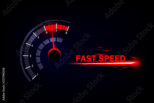 Fotografía Speed motion background with fast speedometer car