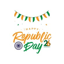 Happy India Republic Day Vector Template Design Illustration
