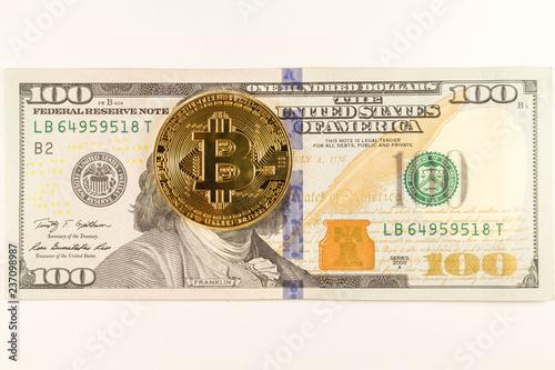 Bitcoin Coin Lies On 100 Dollars