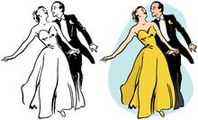 A Couple Ballroom Dancing.
