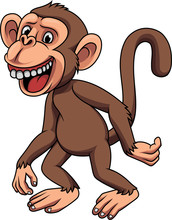 Cartoon Funny Little Monkey
